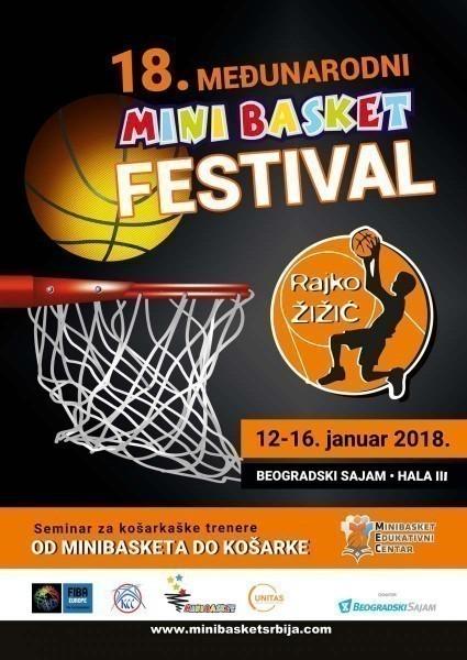 """Počinje 18. Međunarodni minibasket festival """"Rajko Žižić"""""""