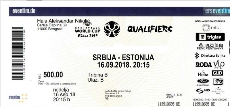 U prodaji ulaznica za meč Srbija – Estonija